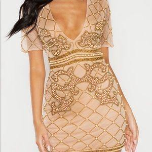 Nude Embellished Dress